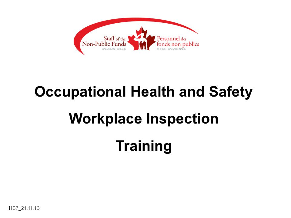 Occupational Health and Safety Workplace Inspection Training HS7_