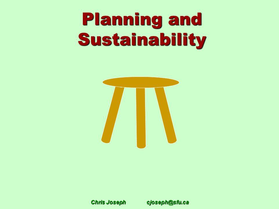 Chris Josephcjoseph@sfu.ca Planning and Sustainability