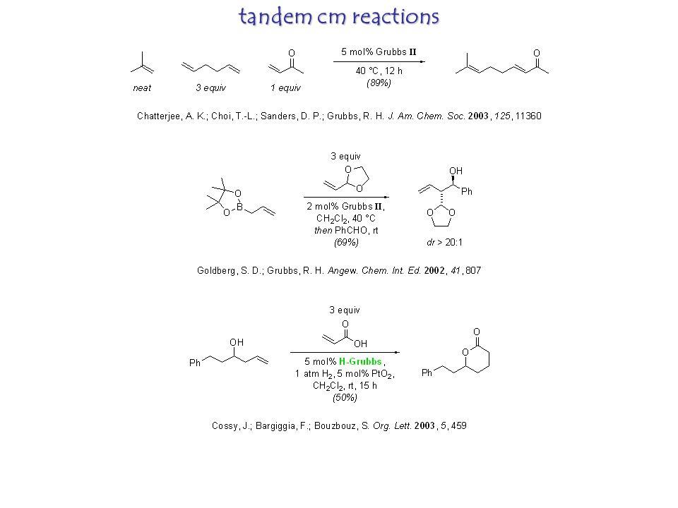 tandem cm reactions