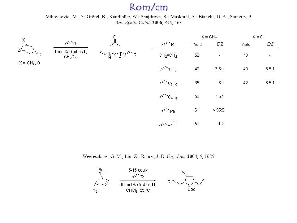 Rom/cm Mihovilovic, M. D.; Grötzl, B.; Kandioller, W.; Snajdrova, R.; Muskotál, A.; Bianchi, D.