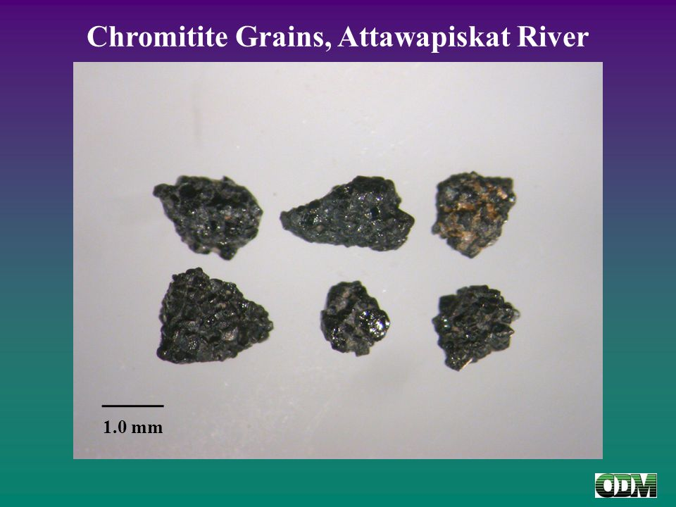 Chromitite Grains, Attawapiskat River 1.0 mm