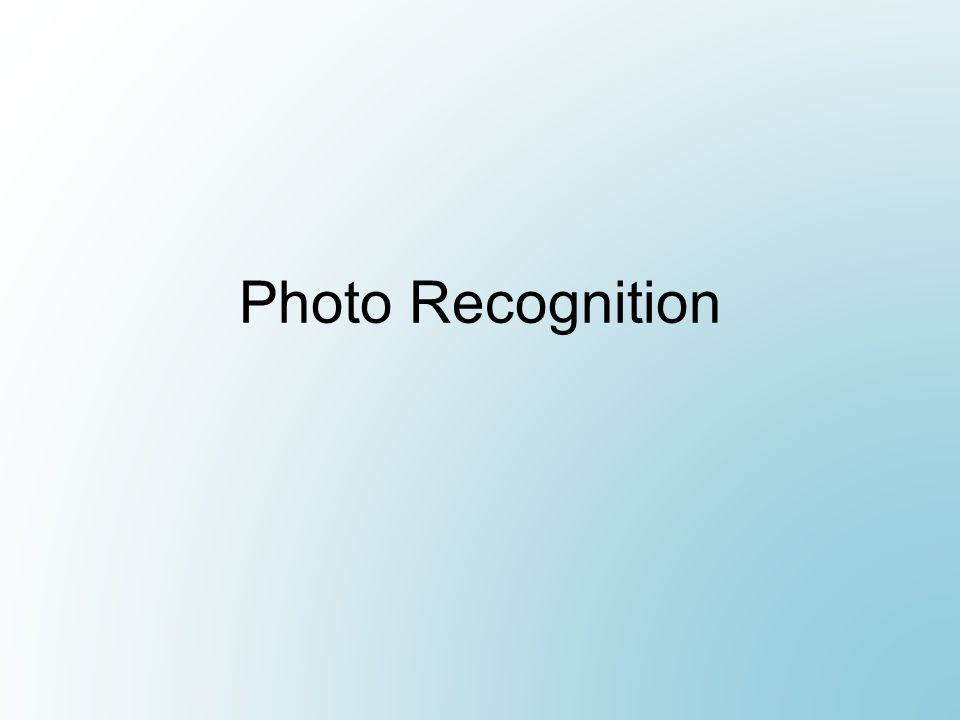 Photo Recognition