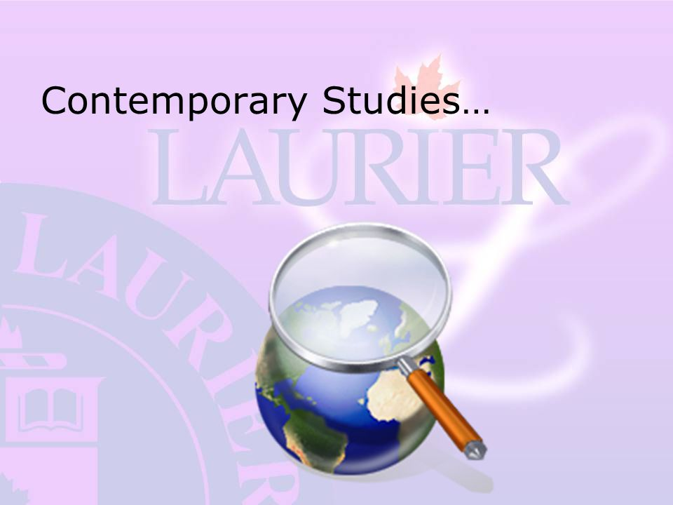Contemporary Studies…
