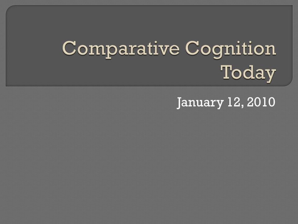  What is comparative cognition?  What is studied?  What approaches are taken?