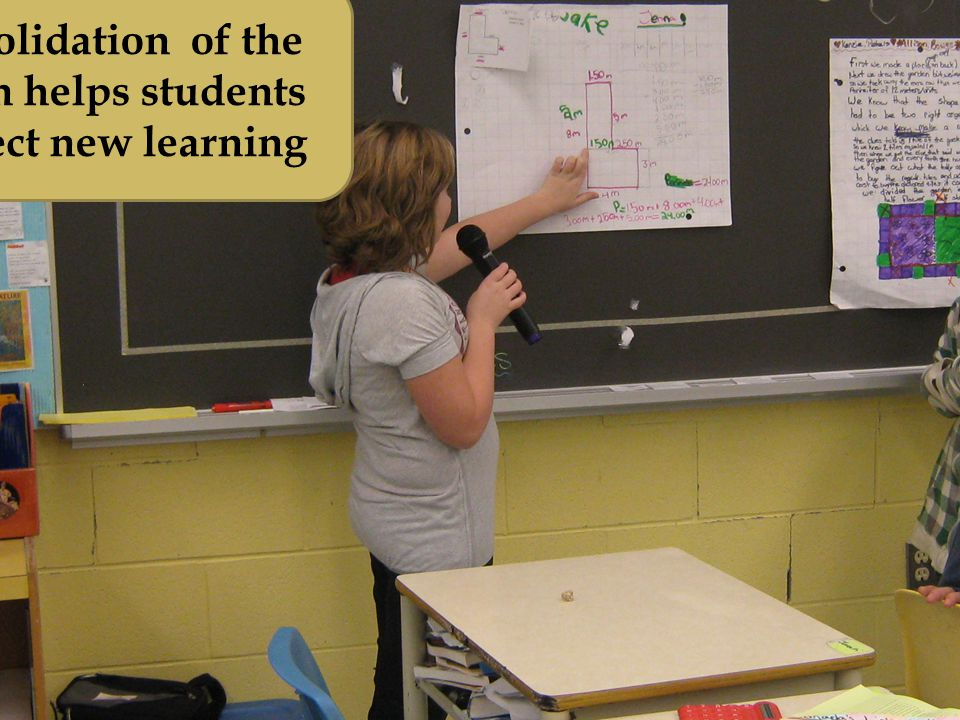 Consolidation of the lesson helps students connect new learning