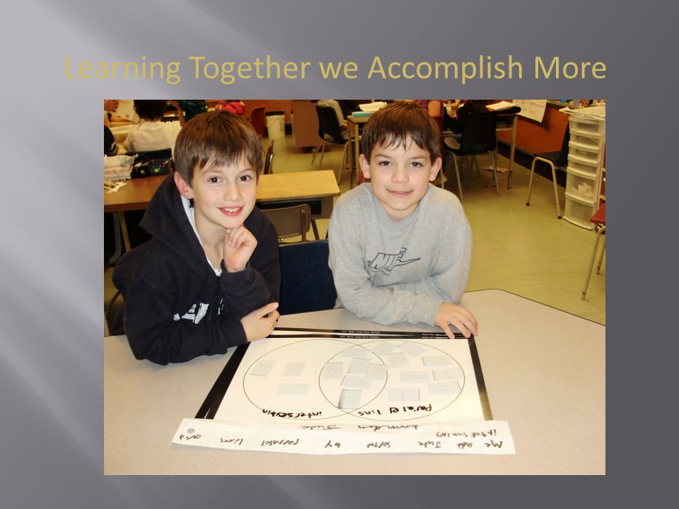 Learning Together we Accomplish More