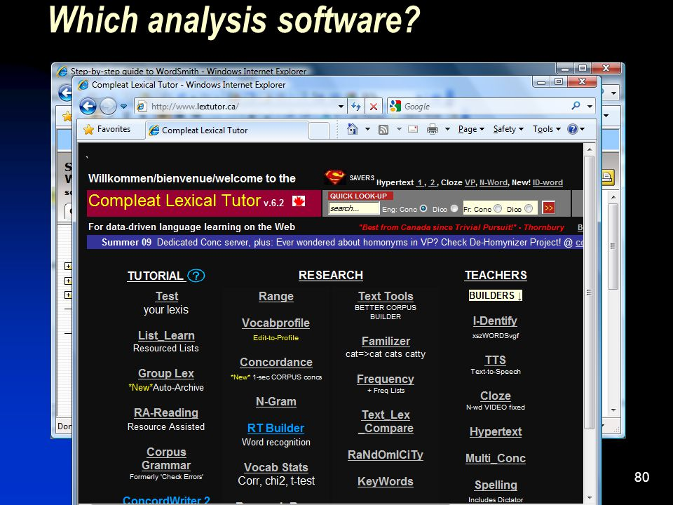 80 Which analysis software?