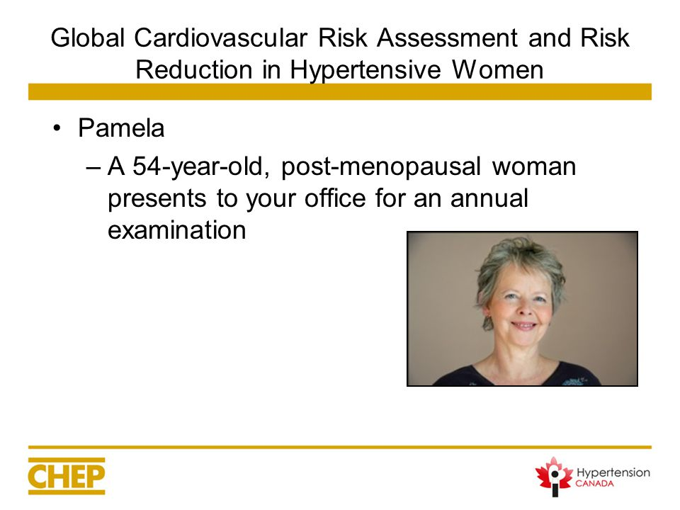How would you explain to Pamela what her CV risk score means.