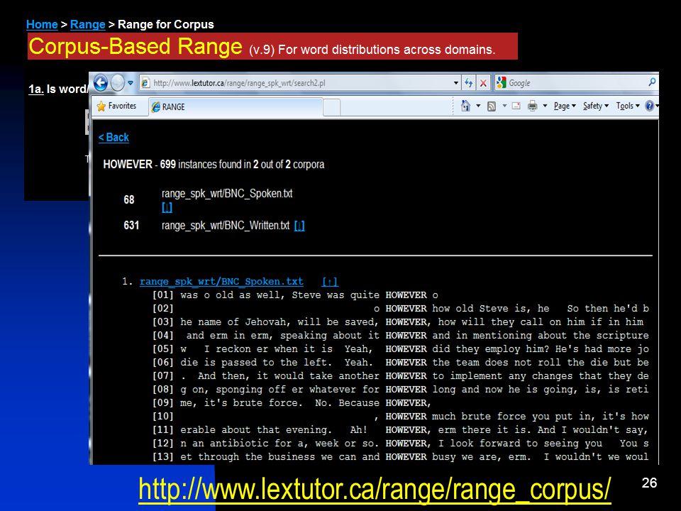 26 http://www.lextutor.ca/range/range_corpus/