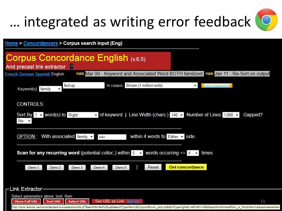 … integrated as writing error feedback 55