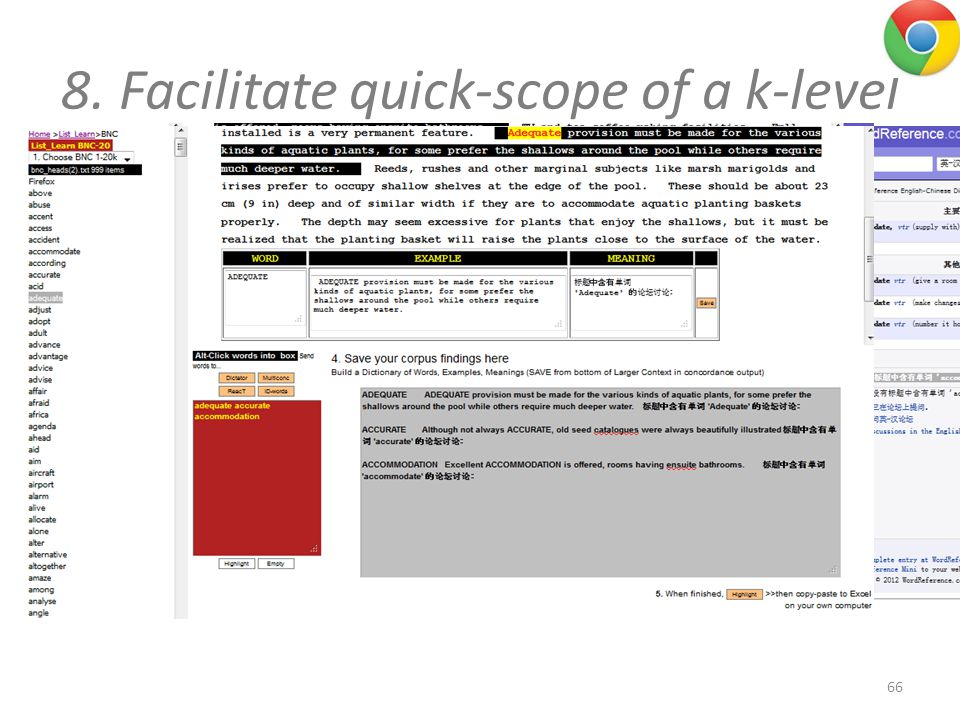 8. Facilitate quick-scope of a k-level 66