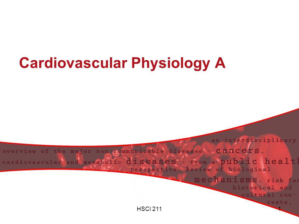 HSCI 2111 Cardiovascular Physiology A