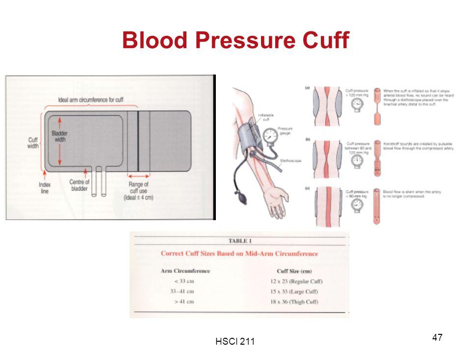HSCI 211 47 Blood Pressure Cuff