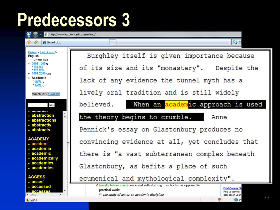11 Predecessors 3
