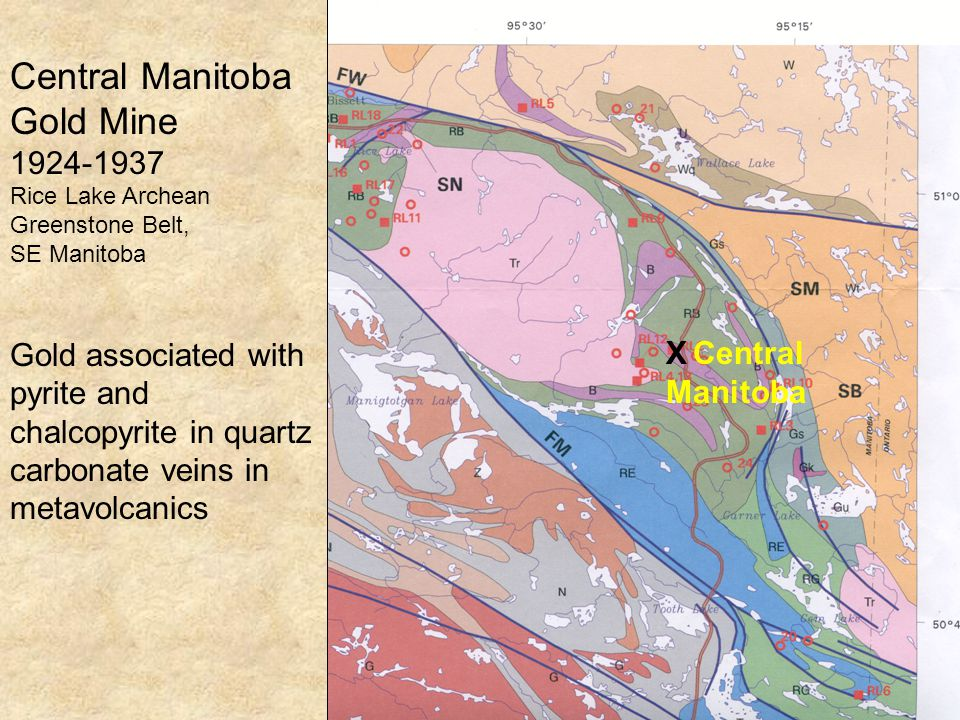 0500 m BLUE POND pH 4.4 GREEN POND pH 7-8 N MINE BUILDINGS WASTE ROCK Central Manitoba Tailings Points of Discharge of Tailings PR 204