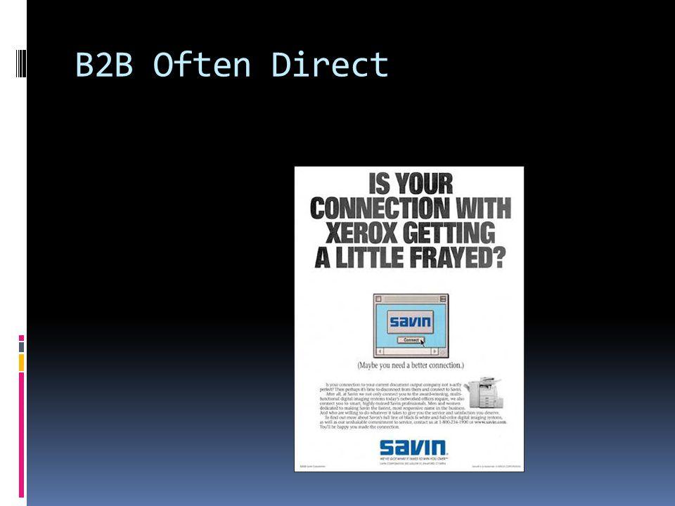 B2C Often Indirect