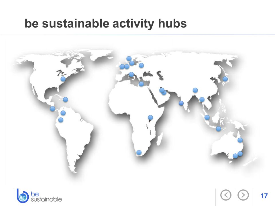 17 be sustainable activity hubs