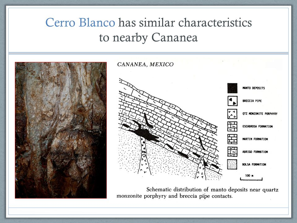 Cerro Blanco has similar characteristics to nearby Cananea