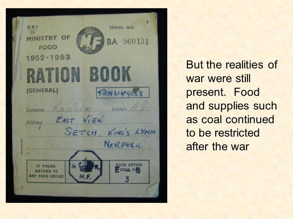 But the realities of war were still present.