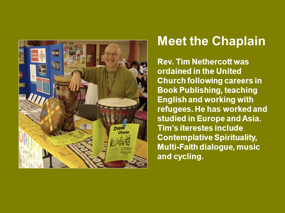 Meet the Chaplain Rev.