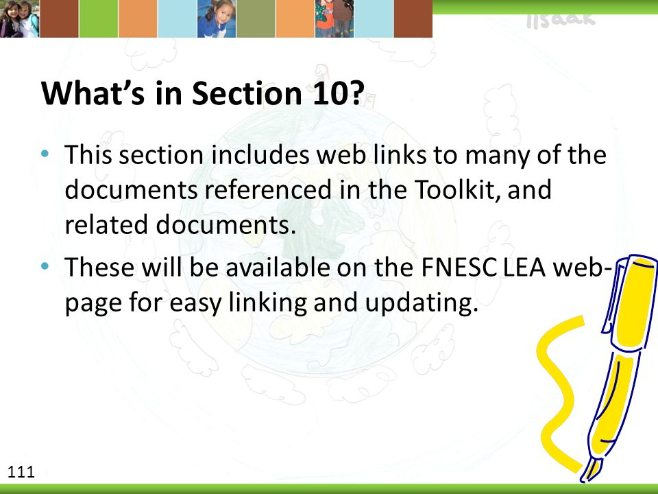 What's in Section 10.