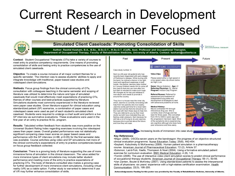 Current Research in Development – Student / Learner Focused