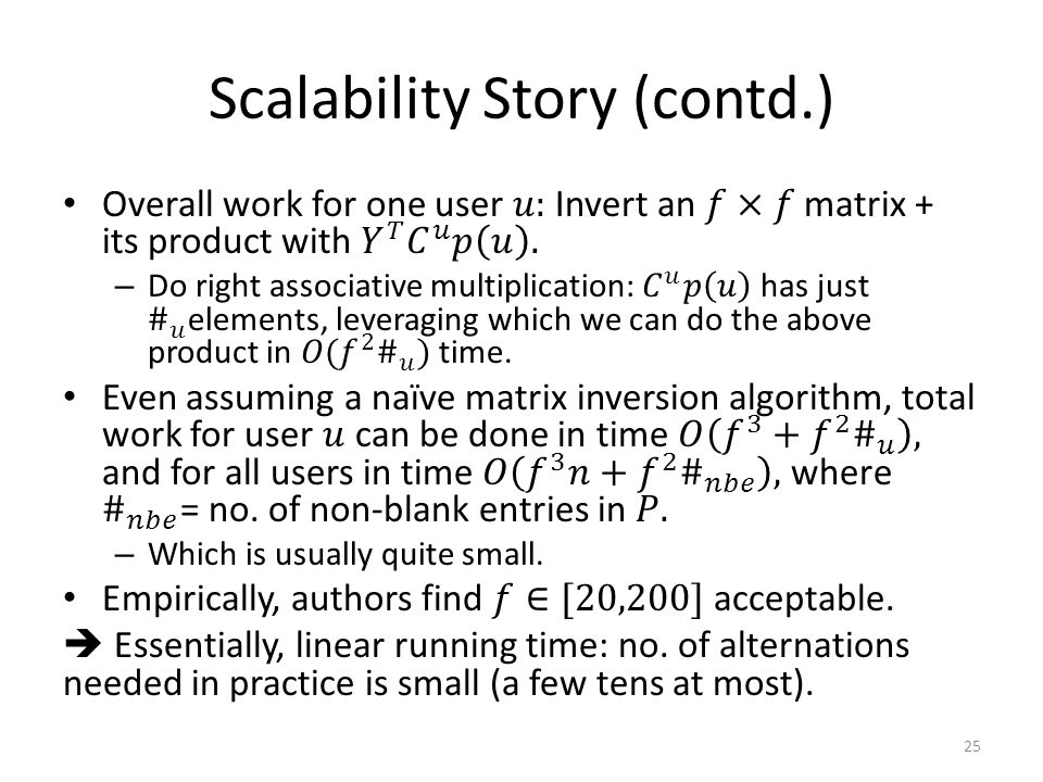Scalability Story (contd.) 25