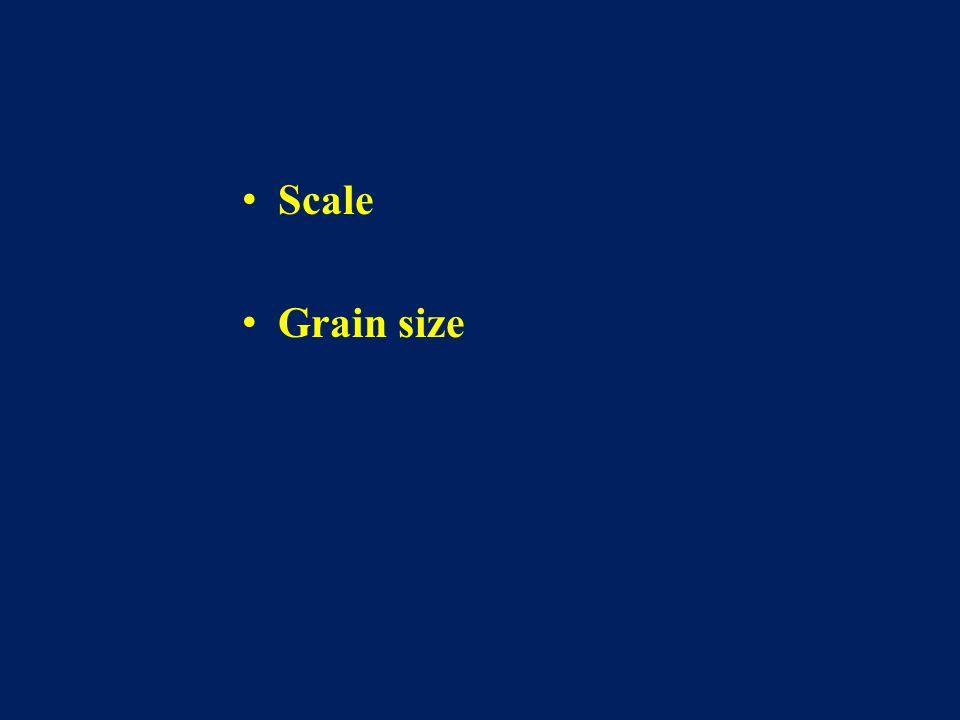 Scale Grain size