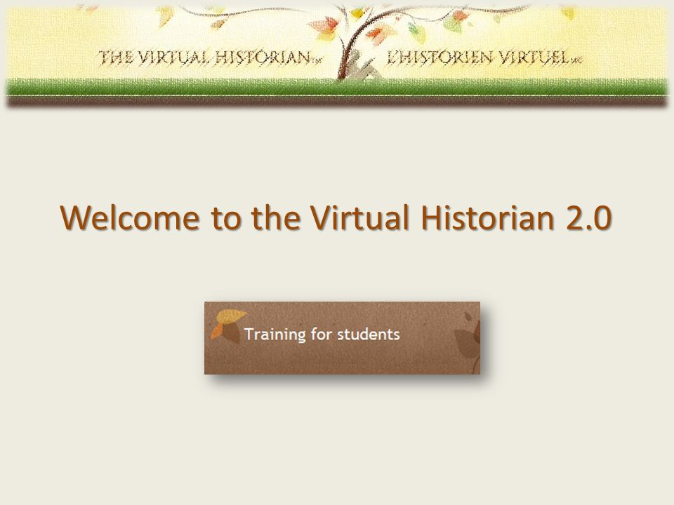 Welcome to the Virtual Historian 2.0