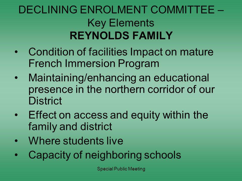 Special Public Meeting DECLINING ENROLMENT COMMITTEE – Key Elements ESQUIMALT FAMILY Aboriginal Education Enhancement Where students live