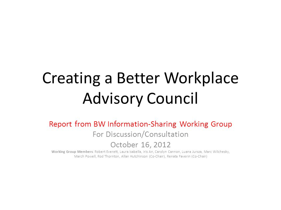 Role of Advisory Council Did we get it right.What is missing.