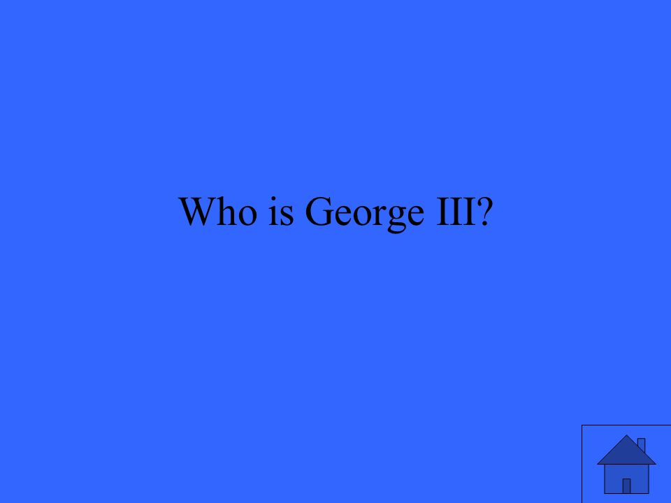 Who is George III?