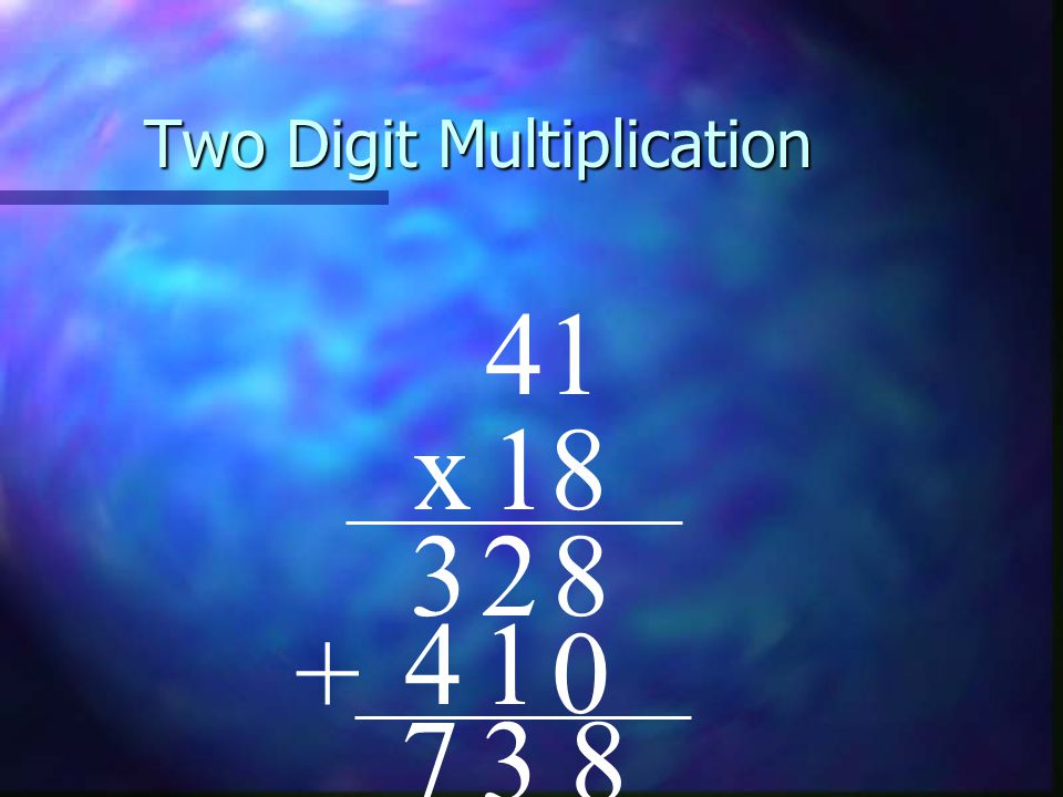 Two Digit Multiplication 41 x