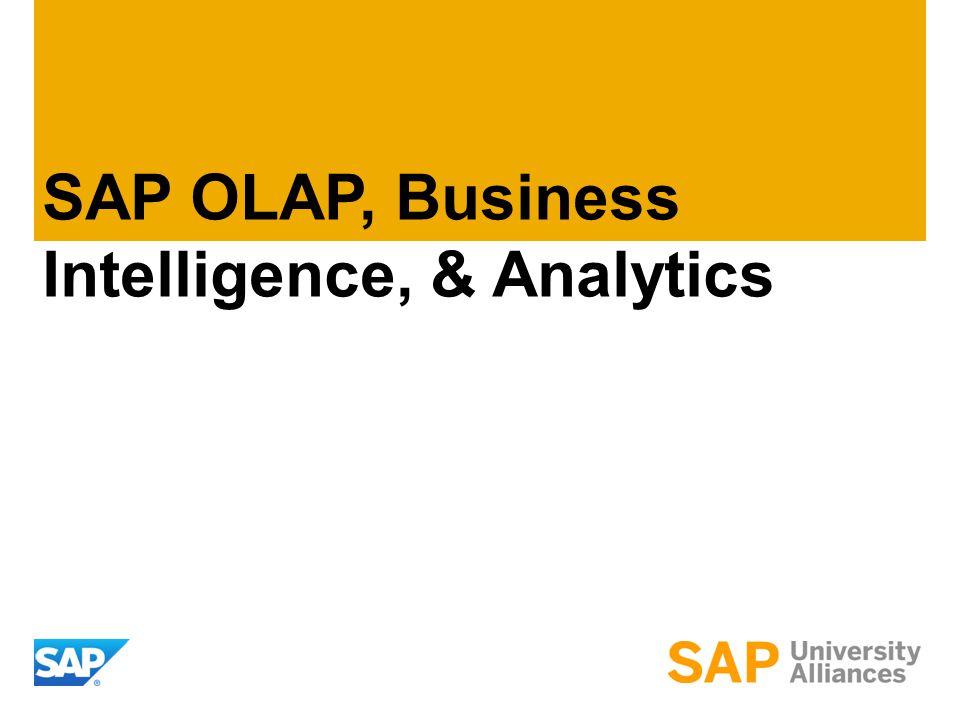 SAP OLAP, Business Intelligence, & Analytics