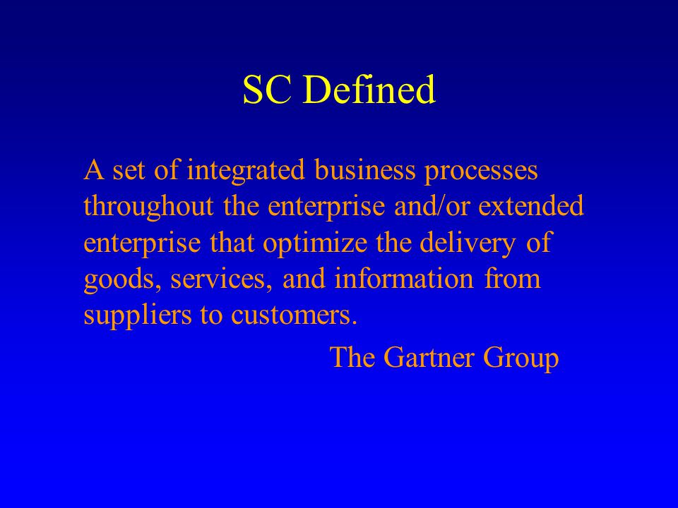 SCM Dimensional Definition SCM SCP Order Fulfillment Product Development Customer Service SCE