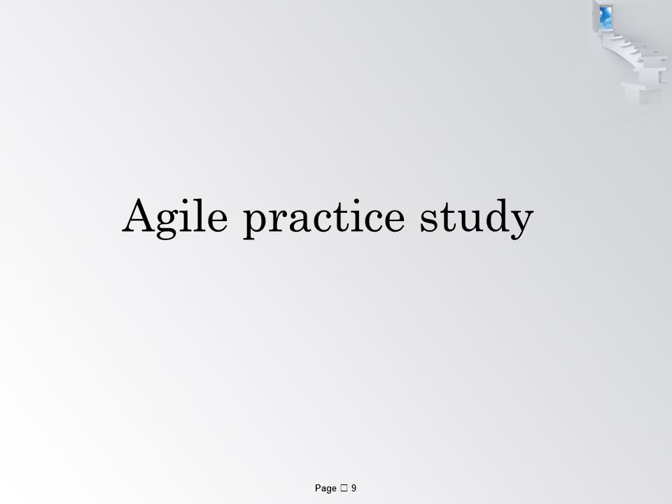 Page  9 Agile practice study