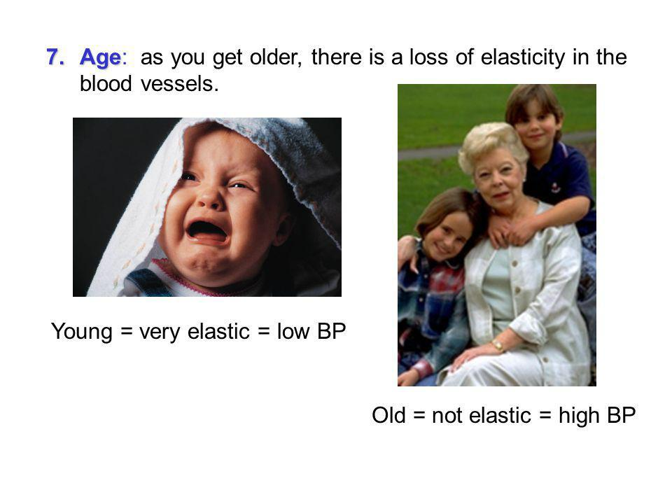 6.Cardiac output 6.Cardiac output: Heart rate increases = higher BP Heart rate decreases = lower BP