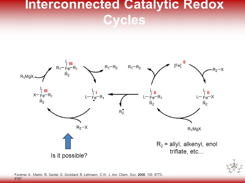 32 Interconnected Catalytic Redox Cycles Fürstner A., Martin, R.