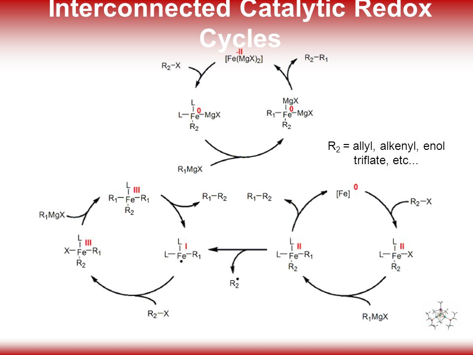 35 Interconnected Catalytic Redox Cycles R 2 = allyl, alkenyl, enol triflate, etc...