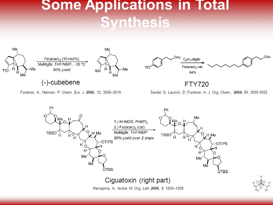 4 Some Applications in Total Synthesis FTY720 Seidel, G.