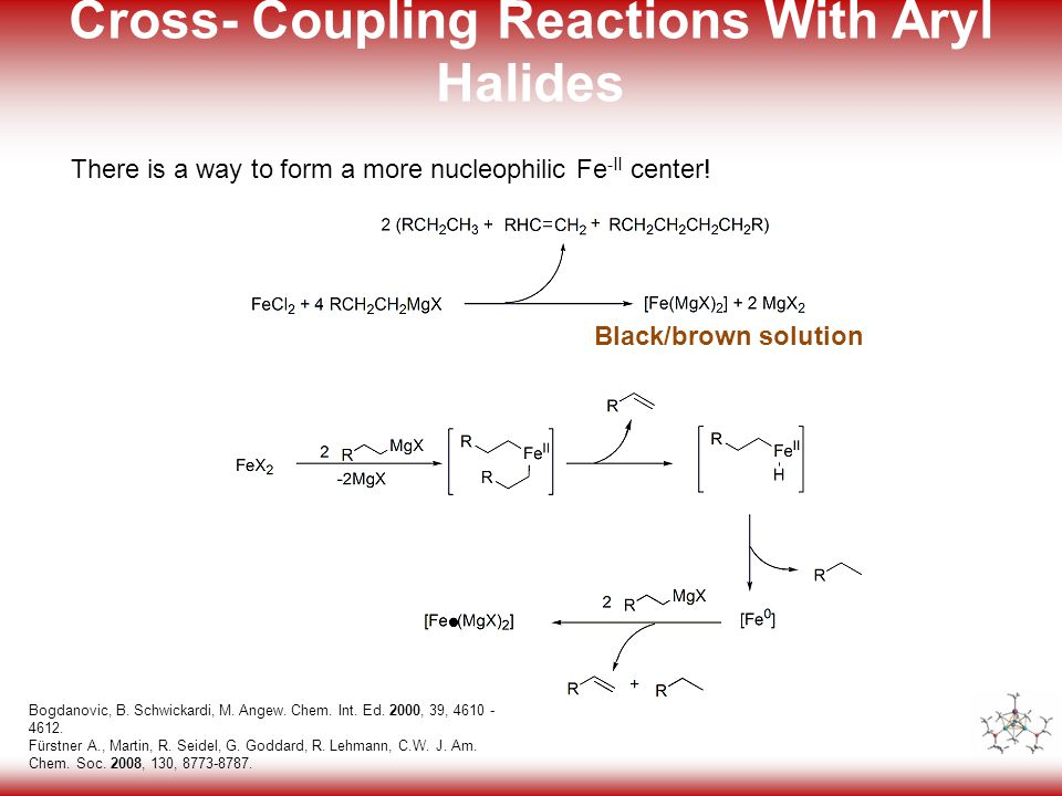 8 Cross- Coupling Reactions With Aryl Halides Bogdanovic, B.