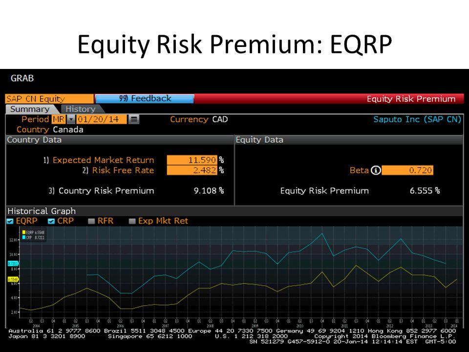 Equity Risk Premium: EQRP