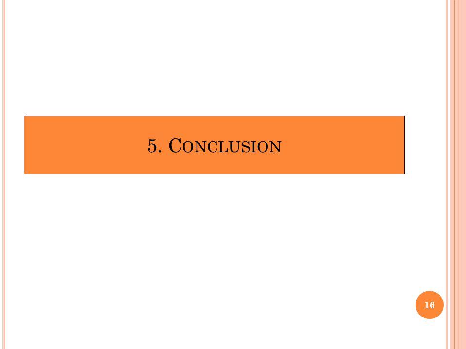 5. C ONCLUSION 16