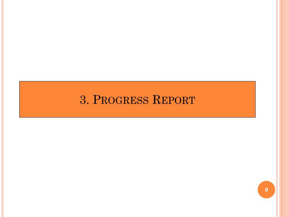 3. P ROGRESS R EPORT 9