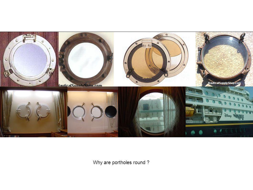 Why are portholes round ?