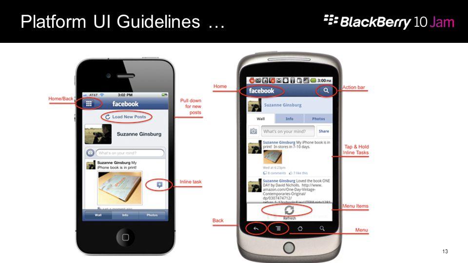 Platform UI Guidelines … 13