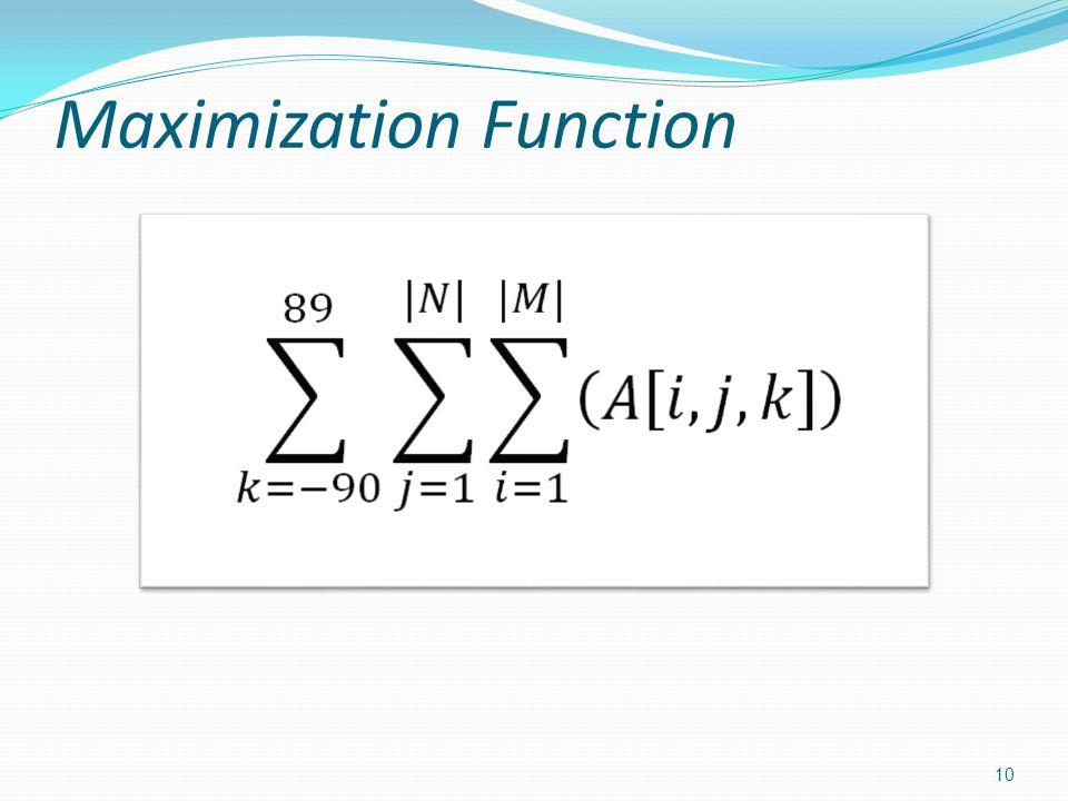 Maximization Function 10