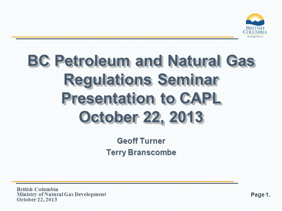 British Columbia Ministry of Natural Gas Development October 22, 2013 Page 52. Normal Spacing – NTS