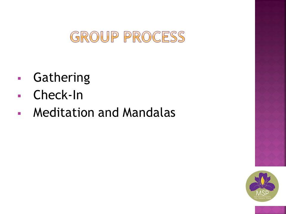  Gathering  Check-In  Meditation and Mandalas