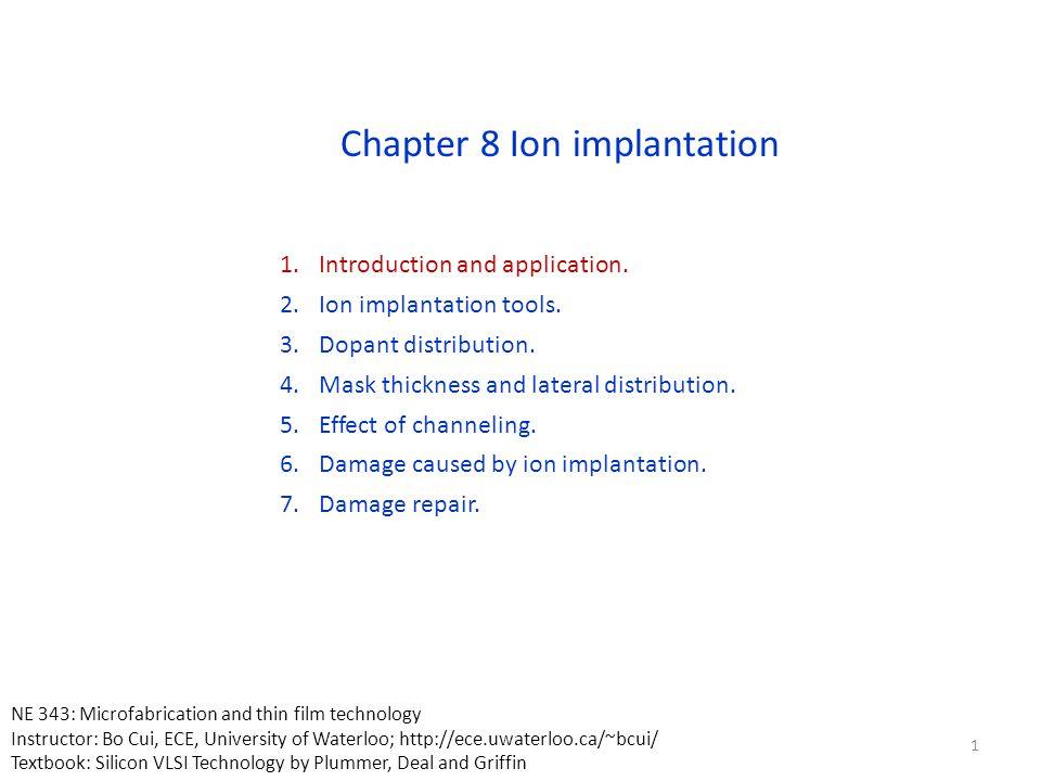 Ion implantation: Pearson IV profile Measured boron impurity distributions compared with four moments (i.e.